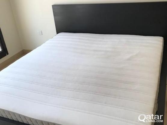 New IKEA King Size Bed Mattress Bedding