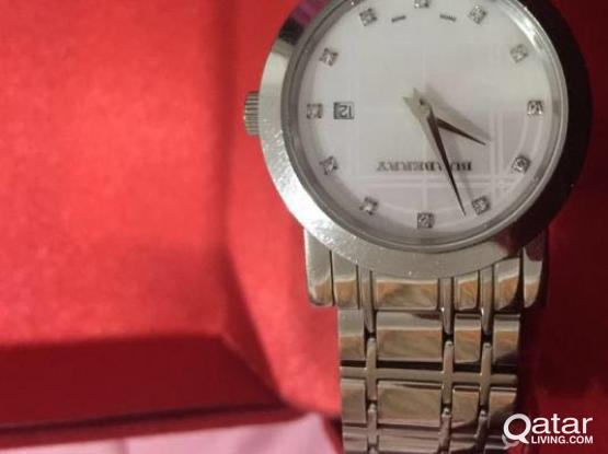 Used Burberry watch with diamonds