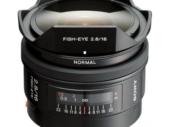 16mm f/2.8 Fisheye Sony A Mount lens + LAEA3 Sony E Mount Adapter