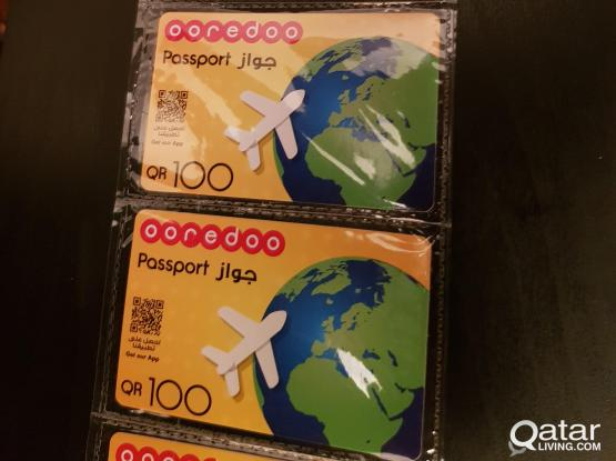 Ooredoo Passport Cards (5 Available)