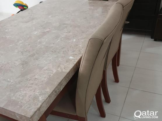 6-7 Seaters Marble Top Dining Table New