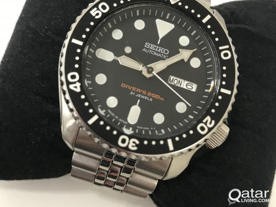 Original Seiko skx007j in stainless steel bracelet