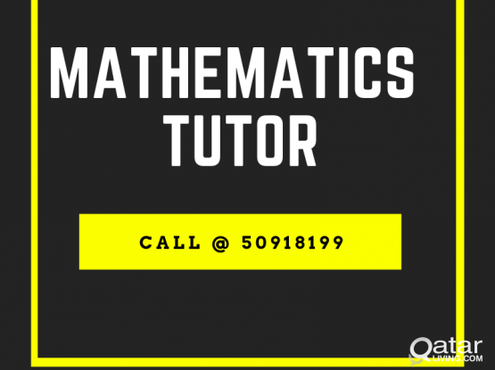 Experienced Maths Tutor Available. Call @50918199