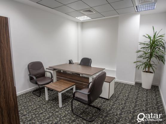 15 SQM -  Serviced Office Space for Rent Fully Furnish+Trade License