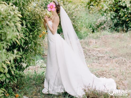 Beautiful Wedding dress Modeca, Dutch designer