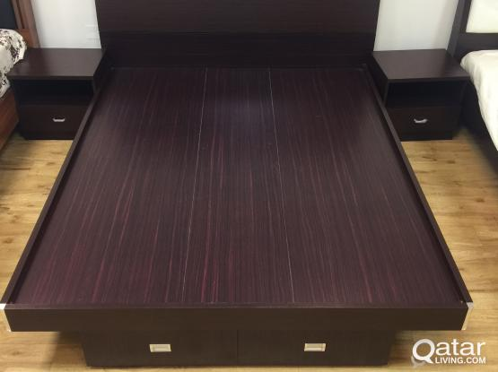 WOODEN BED 160X200 BRAND NEW WITH OFFER PRICE CONTACT:33280157