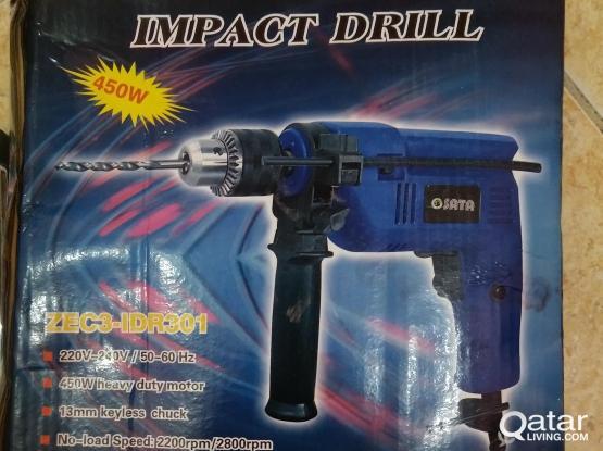 SATA IMPACT DRILL with BOSCH Concrete drill bit