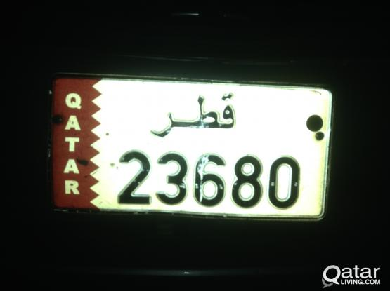 selling my vehicle plate no. 23680