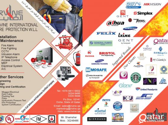 FIRE ALARM AND FIRE FIGHTING SERVICES.