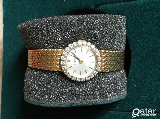 Rolex vintageYellow gold with 24 diamond