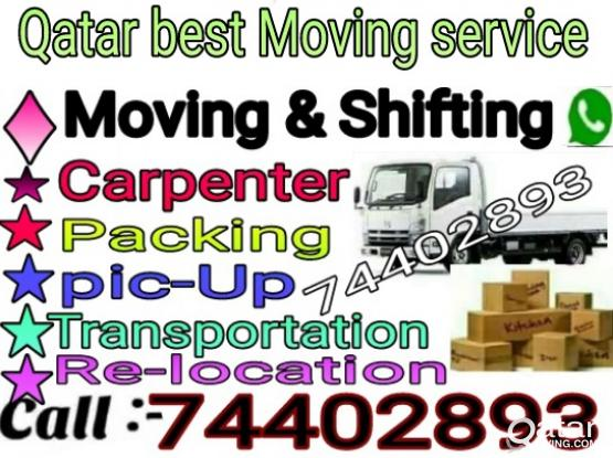 Good price, call:-74402893 Moving,Shifting, Carpenter,A/C servicing