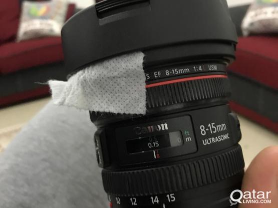 Canon 8-15mm f4 fisheyes still in box new