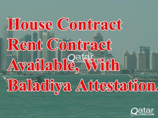 33226879- House Contract For Family Visa With Baladiya (Municipality Attestion).