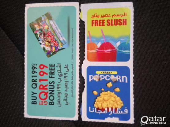 Jungle zone and Mcdonald-  various coupons