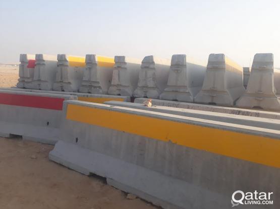 Concrete Barriers 3 m, 3.8 m & Plastic Barrier