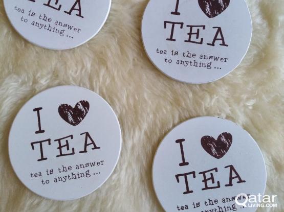 4 unnder cups '' I love tea''