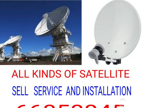 All type satellite TV receiver sales and service