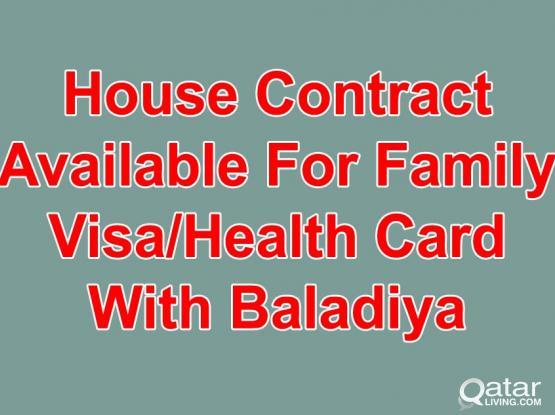 33226879-100% Gaurantee House Contract For Family Visa With (Baladiya Attestion)