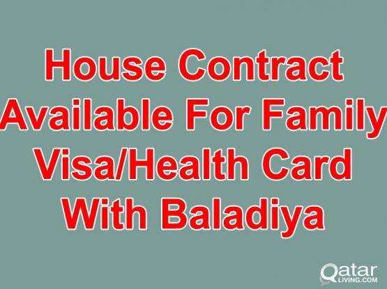 50675585-100% Gaurantee House Contract For Family Visa With Baladiya Attestion