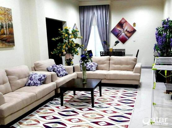 short term available  ..INCLUDING ALL BILLS...2 BHK FURNISHED APARTMENT AT WAKRAH