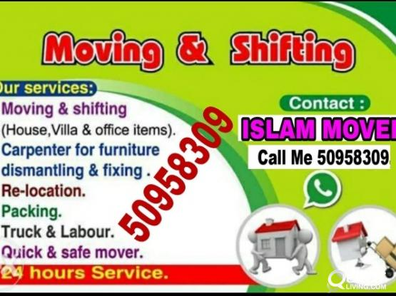 Moving packing and Carpenter service. Call.  50958309