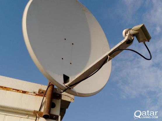 Dish Satellite with Sony TV