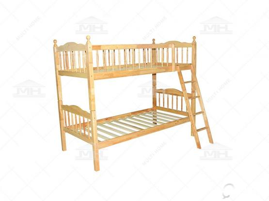 full wooden bunk bed
