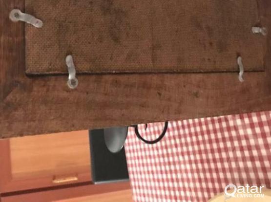 handmade wood/mirror candle holders