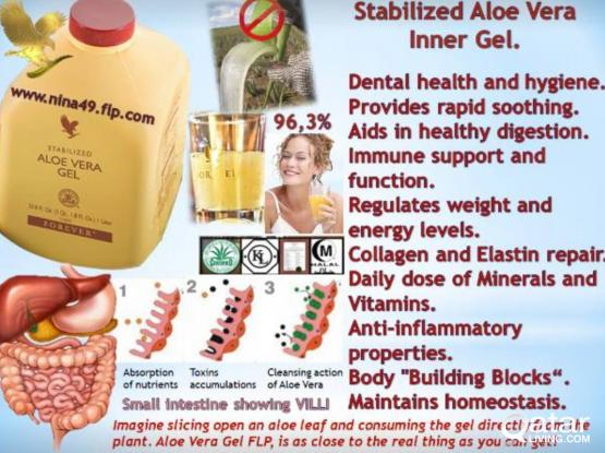 Aloe vera gel - pure and natural