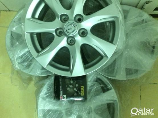 Mazda 3 original mag wheels 205.55.R16 5 holes