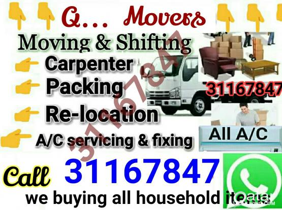 Low price.. 31167847,,Moving shifting, carpenter,A/C servicin..  pic-up transportation relocation ..we r proposonal workers