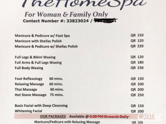 Beauty Home Services for WOMAN ONLY