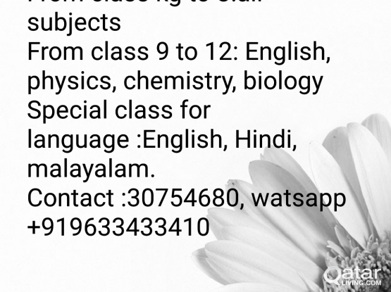 Tuition available @wakrah near DPS school