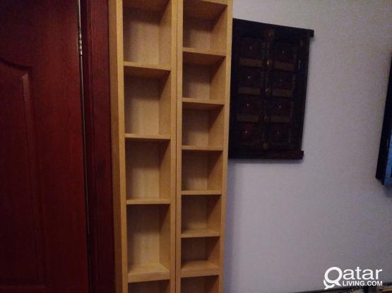 2 pieces IKEA Tall CD /DVD TOWER SHELF UNIT Adjustable shelve's