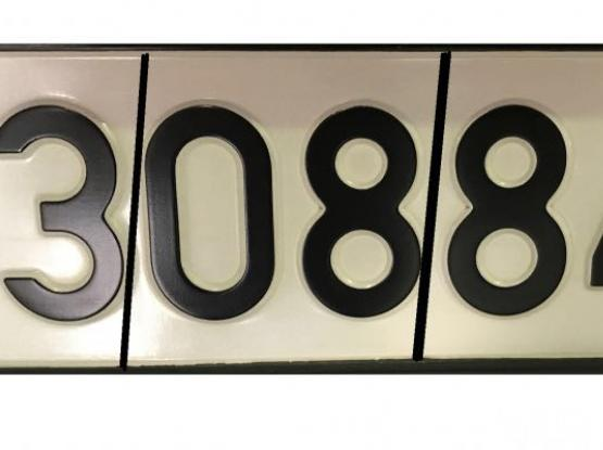 Plate number as date of birth- 30/8/84 or 3/08/84