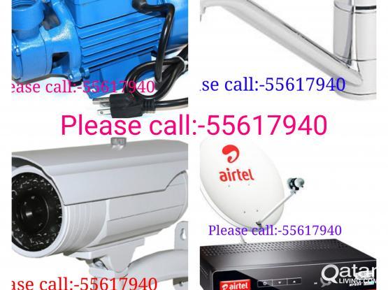 Electrical, Plumbing, Satellite,Cctv DVR+HD Camera installation.