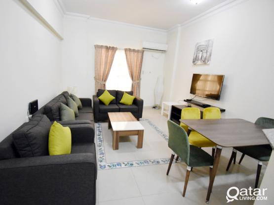 No Commission - One Month Free - Two bedroom furnished flat in the heart of Doha