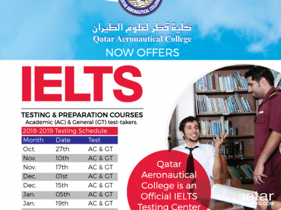 IELTS Testing and Courses at QAC - Call 50001586 / 44408850
