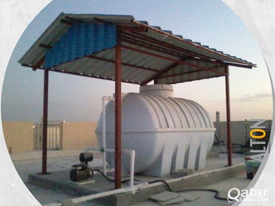 Water Tank Shade, Chinkoo Sheet Waterproofing and Crack filling