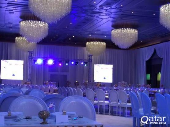 Rental LED screens, Event Services  photography, videography services