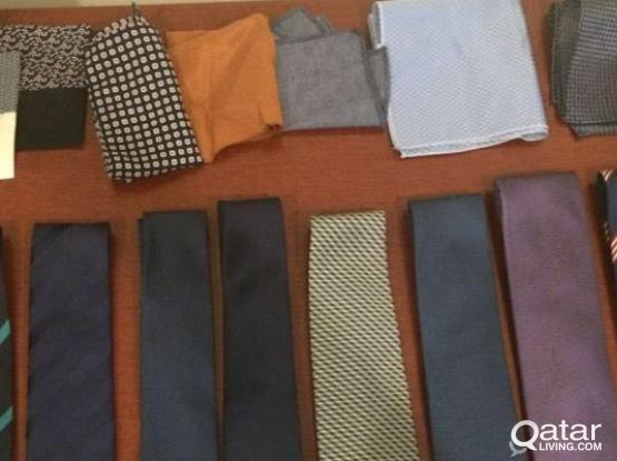 7 Italian elegant Ties and pocket squares