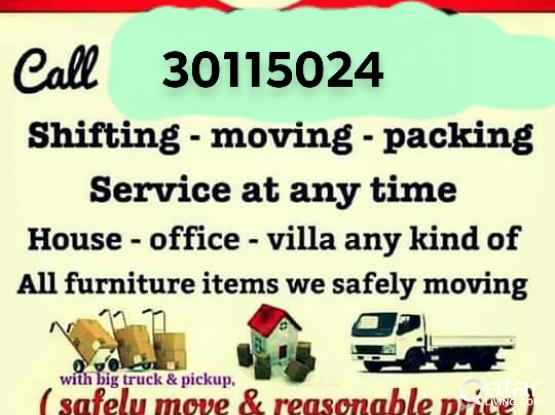 We do shifting and moving 24/7 please call 30115024