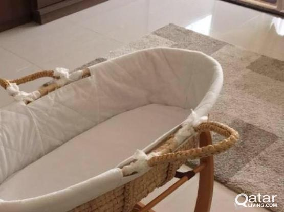 Mother Care Baby Moses Basket and Stand