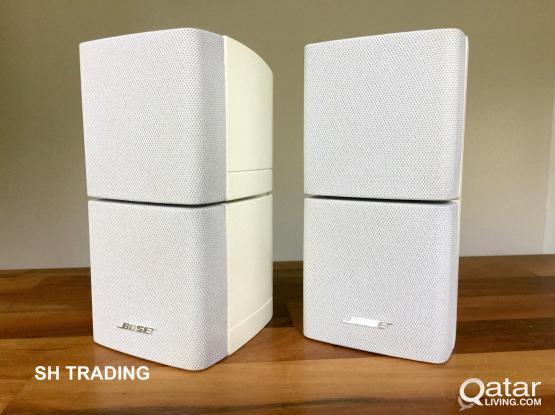 2 Bose Double Cube Speakers Acoustimass Lifestyle White