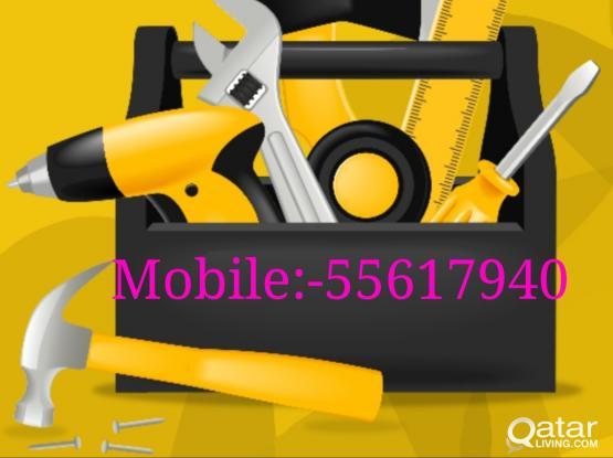 *Electrical*Plumbing *Cctv Dvr,HD Camera& Satellite(Dish Antena)work in Qatar.