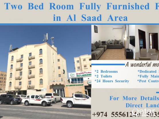 Two Bed Room Fully Furnished Flat in Al Saad Area
