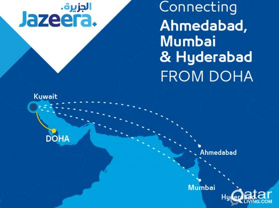 Now Fly To INDIA with attractive Fares from Jazeera Airways