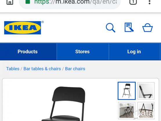ikea bar chair and BLACK+DECKERS fan