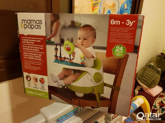 Mamas & Papas Baby Booster Seat & Activity Tray, Green Color Good Condition