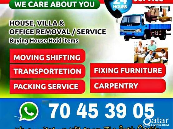 Moving, packing, carpenter, pickup service.Call//70453905 (Good price)